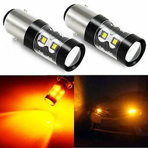JDM ASTAR 50W High Power LED 1157 BAY15D Amber Yellow Car Turn Signal Light Bulb