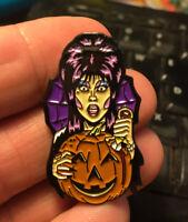 Elvira enamel pin Halloween retro 80s mistress dark comedy monster movies films