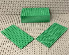 LEGO X10 Bulk New Bright Green Plate 8x16 Part Lot #92438