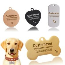 Stainless Steel Pet ID Collar Dog Tags Personalized Front and Back Engraving