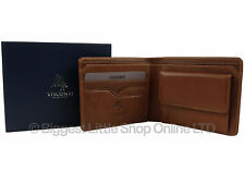 NUOVA linea uomo VICENZA Italian leather wallet in TAN Da Visconti GIFT Boxed Elegante
