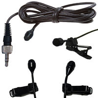 MINI CLIP ON LAPEL LAVALIER TIE MICROPHONE - TRANTEC 3.5mm S4 locking jack plug