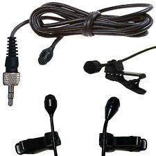 MINI CLIP ON LAPEL COLLAR TIE MICROPHONE - TRANTEC 3.5mm S4 locking jack plug
