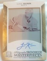 2017-18 The Cup Luke Kunin 1/1 Autographed Rookie Masterpieces Printing Plate