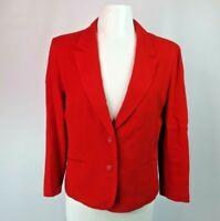 VTG 70s Pendleton Sz L Red Solid Blazer Suit Jacket VTG Wool