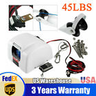 For Boat Electric Anchor Winch With Wireless Remote Marine Saltwater 45 Lbs