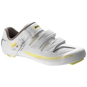 NIB Ksyrium Elite WII SZ 7.5 White Yellow Cycling Shoe