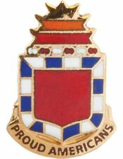No-Shine (NS-T-C-0032A) 32nd Field Artillery Crest Tie Tac