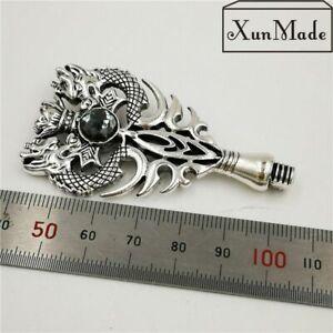 Metal Dragon Handle Wax Seal Stamp Black Silver Dragon Wax Seal Metal Handle Acc