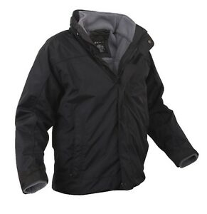 Rothco 7704 Black All Weather 3 in 1 Jacket