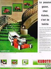 Publicité advertising 1989 La Tondeuse à gazon Kubota