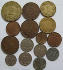 Iceland # 15 old coins for 1925-1942,circulated,  Iceland Kingdom . Rare coins.