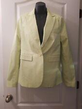 VS Victoria's Secret BODY Sz 12 Yellow Long Sleeve Button Coat Blazer G2