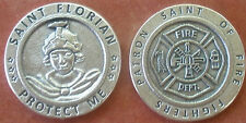 Saint St. Florian Holy Coin Token + Fire Fighters Insignia