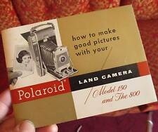 Polaroid Land Camera Model 150 and 800 Owner's Manual Booklet Pamphlet Guide