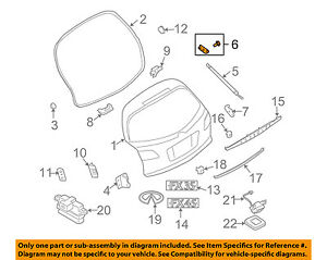 Infiniti NISSAN OEM FX45 Liftgate Tailgate Hatch-Stay Bracket Right 90454CG000