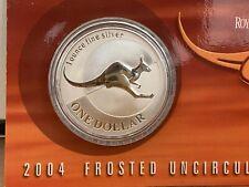 2004 1oz Silver Kangaroo coin Mint condition. Australian Mint