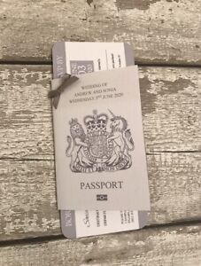 10 unusual passport invitations for weddings abroad With Boarding Pass