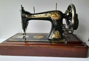 Singer 15k Sewing Machine 1906 - Working With Box, Key & Accessories