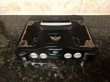 Custom Painted Zelda Triforce Ocarina of Time Nintendo 64 Console + Cables