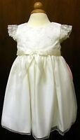 BRIDESMAID BABY GIRL CINDERELLA DRESS IVORY,12 18 24 M  BNWT CHRISTENING PARTY