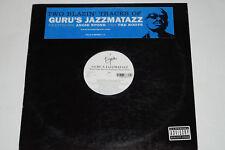 """GURU'S JAZZMATAZZ -Keep Your Worries / Lift Your Fist- 12"""" Virgin Records"""