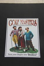 "Three Stooges Golf Masters Clubs Vintage Style Color 16"" Tin Metal Sign"