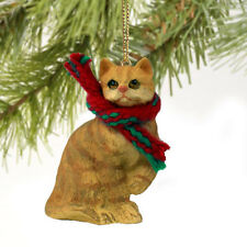 Red Shorthair Tabby Cat Tiny One Miniature Christmas Ornament