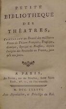 PETITE BIBLIOTHEQUE DES THEATRES - REUNION DE 6 PIECES - PARTITION - 1786