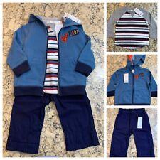 Gymboree Boy's Three Piece Set, Shirt Pants Jacket, Size 12-18 mos., NWT ($77)