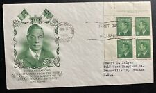 1949 Ottawa Canada First Day Cover Fdc King George Vi Birthday To Usa Green