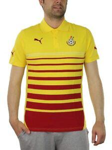 Puma Ghana Hoped Polo Homme Rouge Jaune Football 744667 04