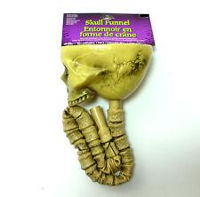 Skull Beer Bong Funnel Skeleton Halloween Party Supply Prop Fun World Decoration
