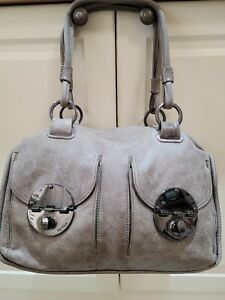 Mimco Turn Lock Detail donkey grey/brown stonewashed look Handbag