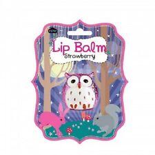Cute Purple Owl Strawberry Flavored Lip Balm