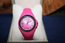 Judith Ripka Stainless Steel Silicone Montauk Watch Raspberry BRAND NEW with box