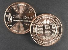 (20) 1 OZ COPPER COINS BITCOIN SILK ROAD 2ND IN SERIES ANONYMOUS MINT COPPER 100