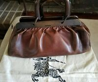 Authentic GUCCI Tom Ford Brown Leather Doctor's Bag, Wood Handles Purse Satchel
