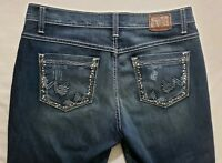 Buckle BKE Drew Stretch Womens Denim Blue Jeans Size 30 x 29 1/2 Straight Dark