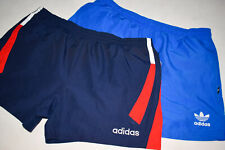 2x Adidas Shorts Short Sprinter Vintage VTG Trouser 90er 90s Casual Blau Blue  L