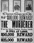Abrahan Lincoln 8X10 Photo Picture Assassination Reward Civil War John Booth #10
