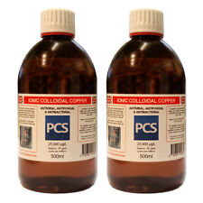 2 x RAME Colloidale 25ppm - 500 ML [2] per 1 AFFARE-Include 1st Class P&p!