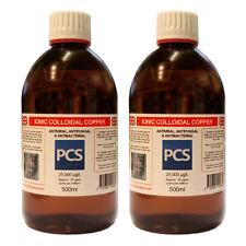 2 X 25ppm de cobre coloidal - 500ml [oferta 2 por 1] - Incluye 1st Clase P&p!