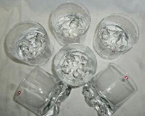 RETRO MID CENTURY IITTALA GAISSA 6 Large Glass Tumblers - Tapio Wirkkala Finland