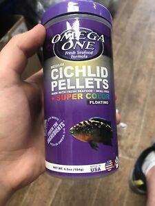 Omega One Medium Cichlid Pellets 6.5oz. **Free Shipping**