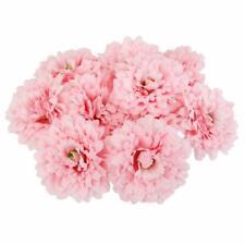 20pcs 10cm Artificial Silk Flower Heads Fake Chrysanthemums Flower Heads Pink