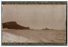 France, L'Ile d'Or - Pointe Darmont  Vintage silver print  Tirage ar