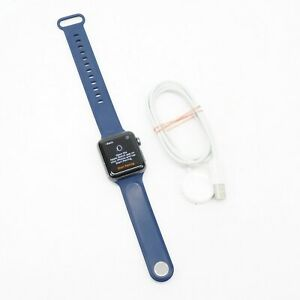 Apple Watch 38mm Series 3 GPS + Cellular with Blue Sport Band MQJN2LL/A