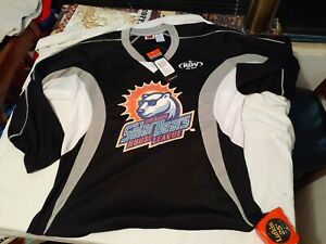 Orlando Solar Bears NHL RED Ice Hockey Jersey CCM Mens large L KAMAZU RDV AUTO