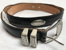 NWT BLOOMINGDALES METROPOLITAN VIEW Genuine Leather Belt W/ RIVET METAL  -Sz 40